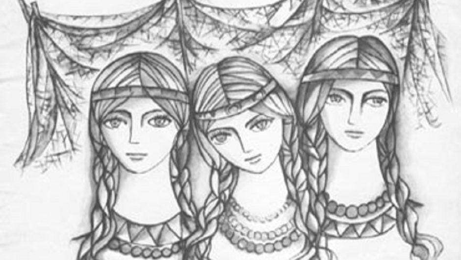 У одной женщины было  3 дочери