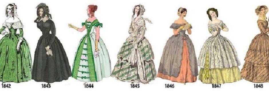 Эволюция женских нарядов