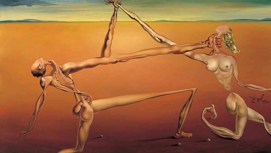 «Танец» — картина знаменитого испанского художника Сальвадора Дали (Salvador Dali). Сюрреалистическое изображение двух людей на фоне пустыни будоражит фантазию. Создается впечатление, что танец приносит им не радость, а боль. Работа не относится к самым известным произведениям мастера, но вот история ее весьма впечатляюща.